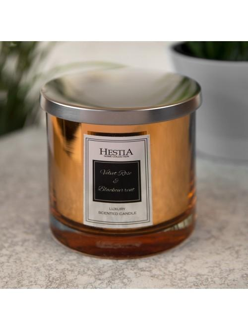 Hestia 360g Double Wick Scented Candle Velvet Rose & Blackcurrant