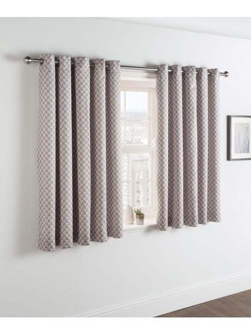 Herringbone Jacquard Bed Curtain Silver