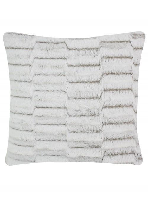 Large Geo Faux Fur Cushion Natural