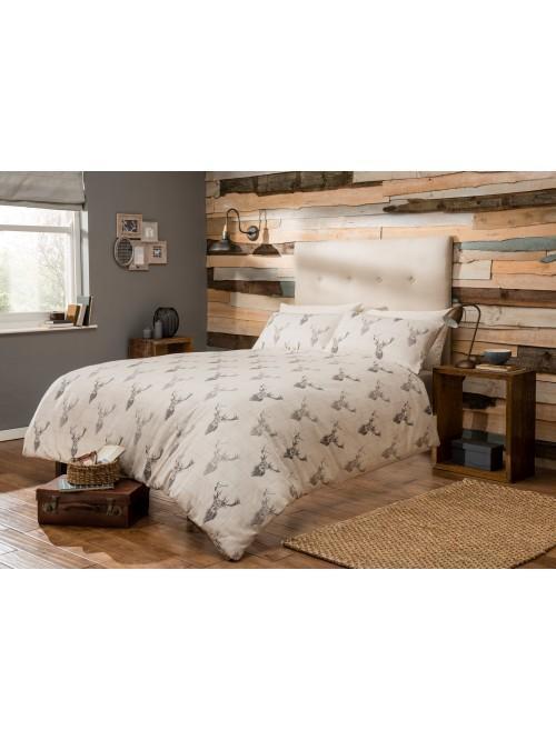 Highland Stag Check 100% Cotton Flannelette Duvet Set