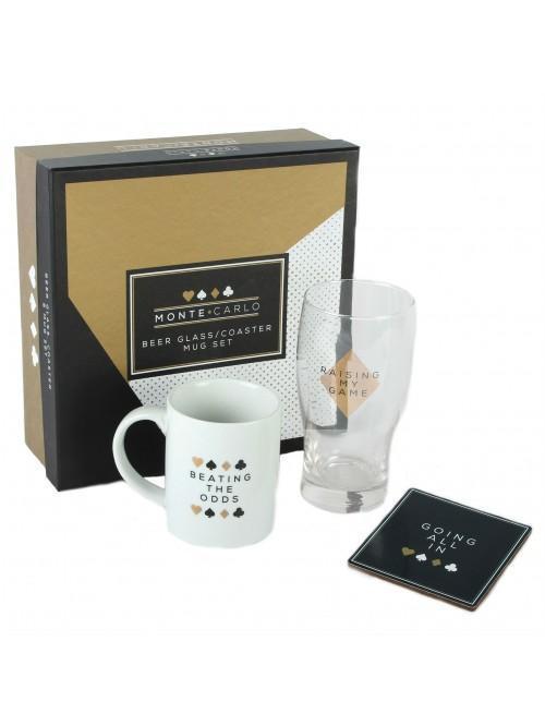 Monte Carlo Glass Mug & Coaster Set - Raising My Game