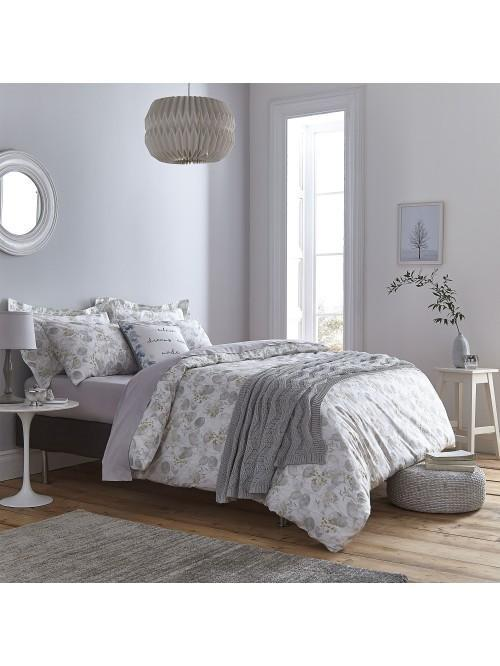 Bianca Honesty Cotton Print Bedding Collection Grey