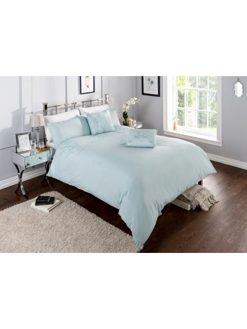 Hotel Damask Bedding Collection Duck Egg