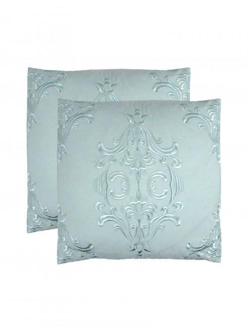 Hotel Damask Bed Cushions 2 Pack Duck Egg