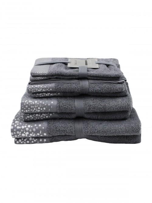 Hotel Luxe Foil Towels Range Grey