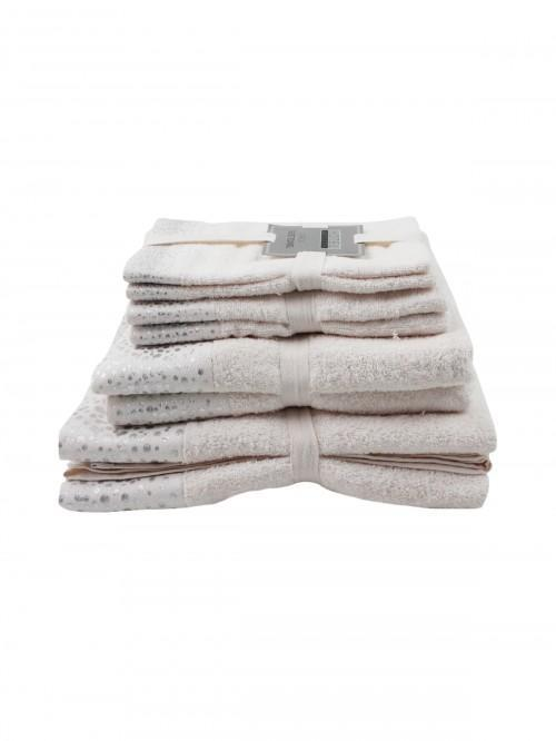 Hotel Luxe Foil Towels Range Cream