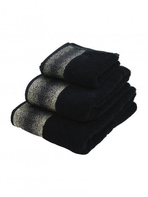 Hotel Luxe Sparkle Towel Range Black