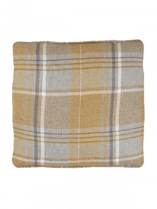 Howarth Woven Check Cushion Ochre