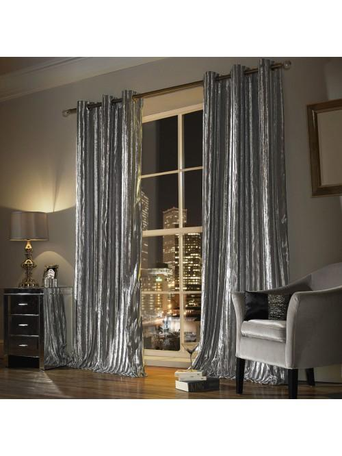 Kylie Minogue Iliana Eyelet Curtains Silver