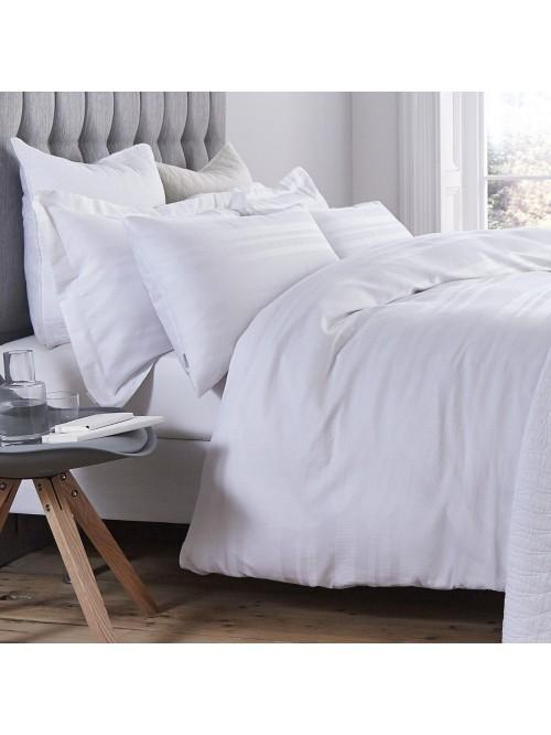 Bianca Cotton Soft Waffle Cotton Stripe Bedding Collection White