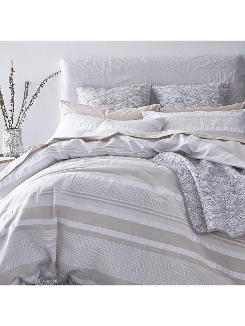 Bianca Cotton Soft Seersucker Cottonstripe Bedding Collection Natural