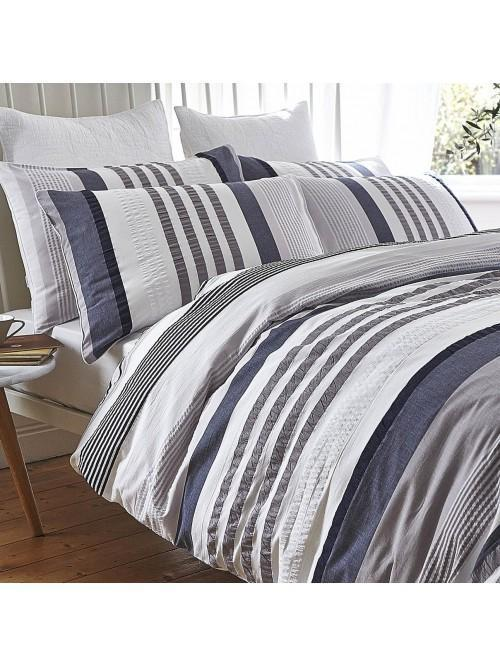 Bianca Cotton Soft Seersucker Cotton Stripe Bedding Collection Multi