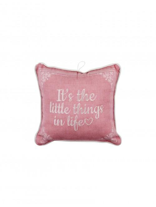 Little Things In Life Mini Cushion Multi