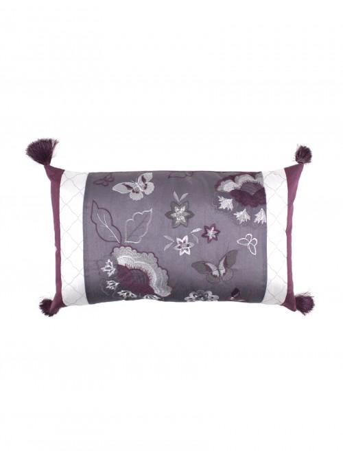 Jacobean Border Bed Cushion Heather
