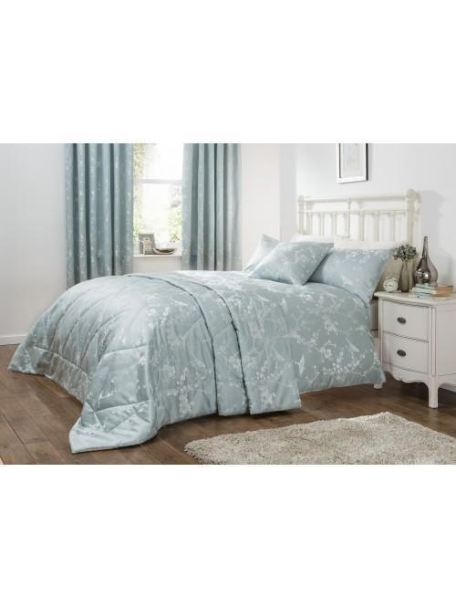 Finch Jacquard Duvet Set Duck Egg