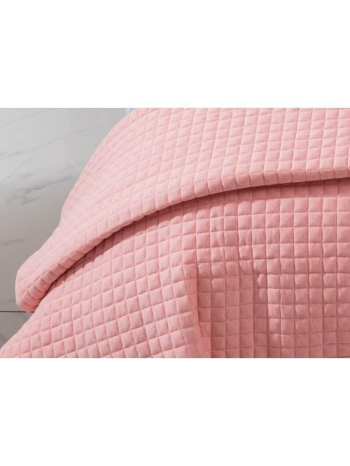 Jersey Bedspread Coral