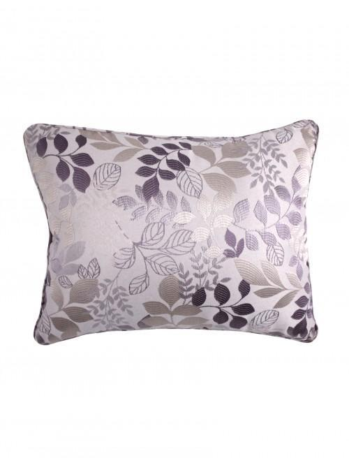 Jules Leaf Jacquard Cushion Heather