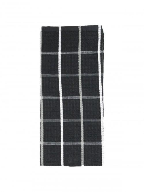 Jumbo Supersoft Check Tea Towel Full Grey