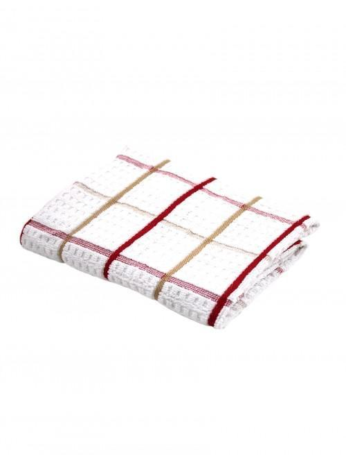 Ponden Home Jumbo Supersoft Red Check Tea Towel