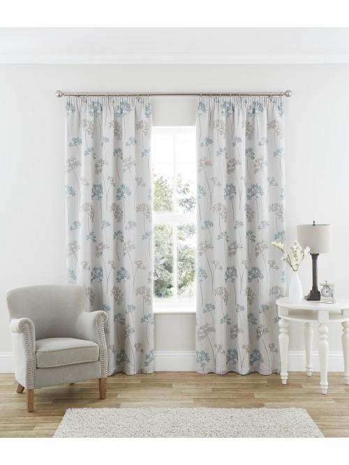 Katelyn Pencil Pleat Curtains Duck Egg