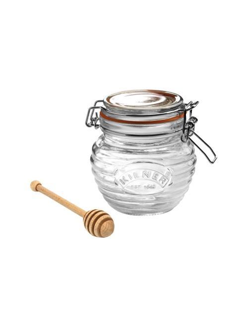 Kilner 0.4 Litre Clip Top Honey Pot with Dipper