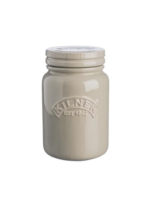 Kilner Ceramic Storage Jar Pebble Grey 600ml