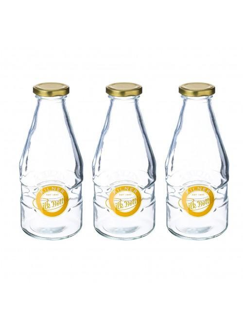 Kilner Glass Milk Bottles 568ml 3 Pack