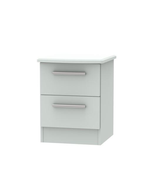Athena 2 Drawer Bedside Cabinet Matt Grey