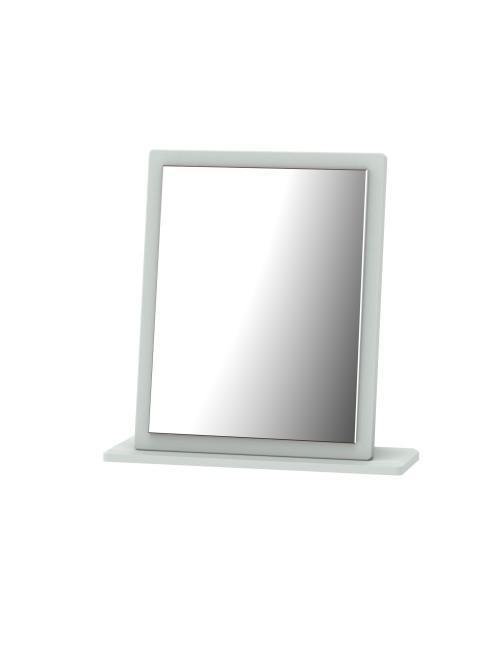Athena Small Mirror Matt Grey