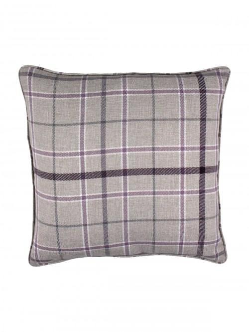 Lewis Check Cushion Heather