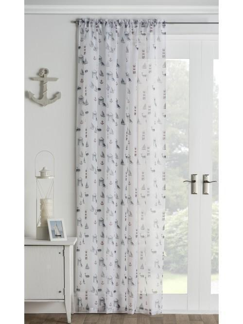 Linear Boathouse Voile Panel Navy