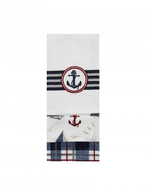 Linear Boathouse 3Pk Tea Towel