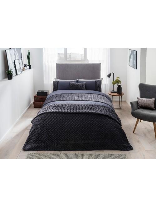 Link Soft Touch Quilted Panel Bedding Collection Grey