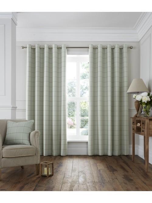Lomond Eyelet Curtains Green