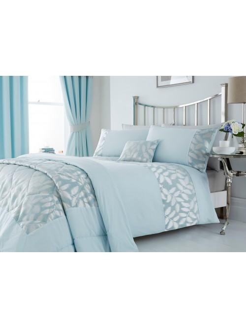 Lucia Leaf Jacquard Bedding Collection Duck Egg