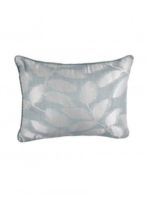 Lucia Leaf Jacquard Bed Cushion Duck Egg