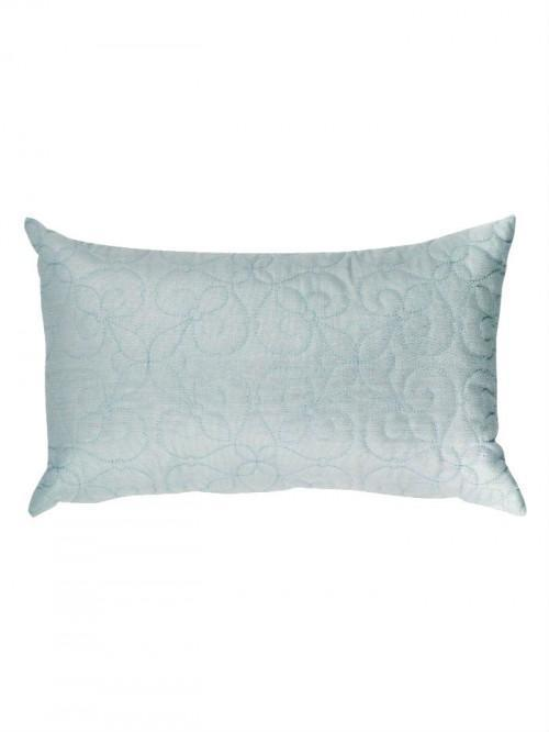 Lurex Quilted Cushion Duck Egg
