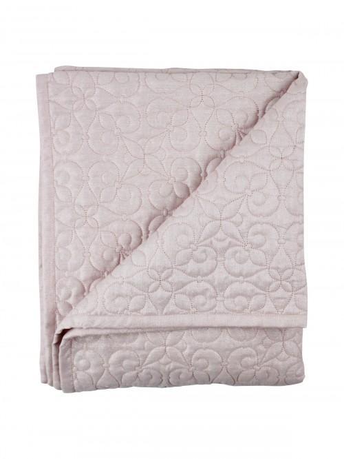 Lurex Quilted Bedspread Pink