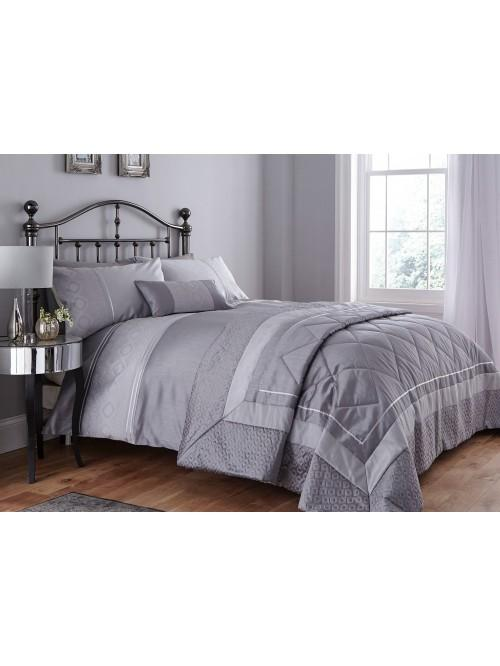 Luxury Geo Bedding Collection Grey