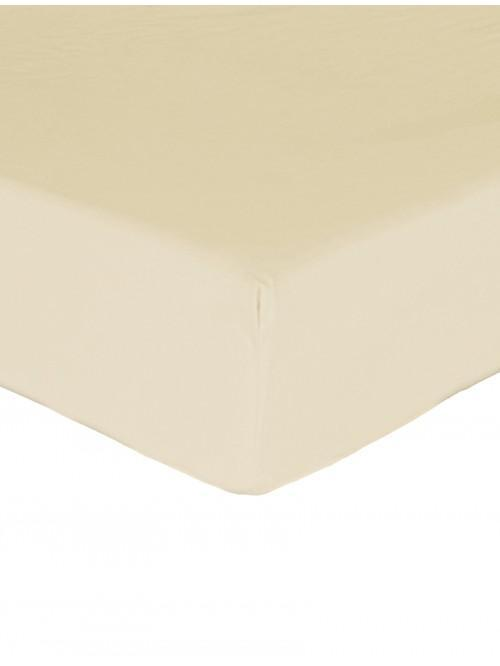 Luxury Percale 200 Thread Count Extra Deep Fitted Sheet Buttermilk