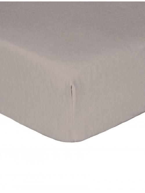 Luxury Percale Fitted Sheet Grey
