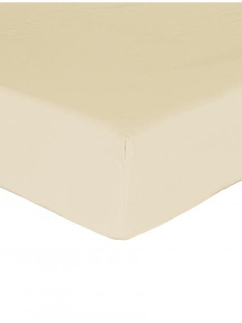 Luxury Percale Extra Deep Fitted Sheet Buttermilk