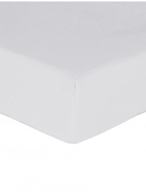 Luxury Percale Fitted Sheet White