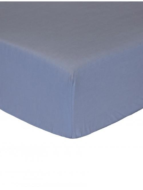Luxury Percale 200 Thread Count Fitted Sheet Denim