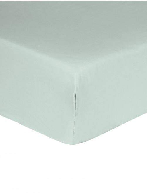 Luxury Percale 200 Thread Count Fitted Sheet Duck Egg