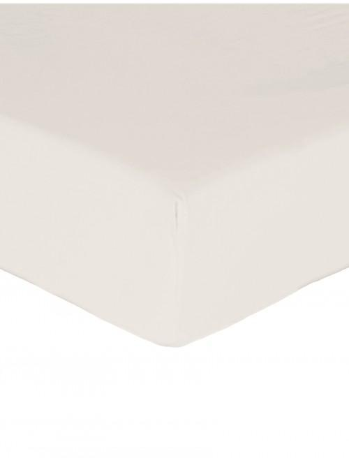 Luxury Percale 200 Thread Count Fitted Sheet  Ecru