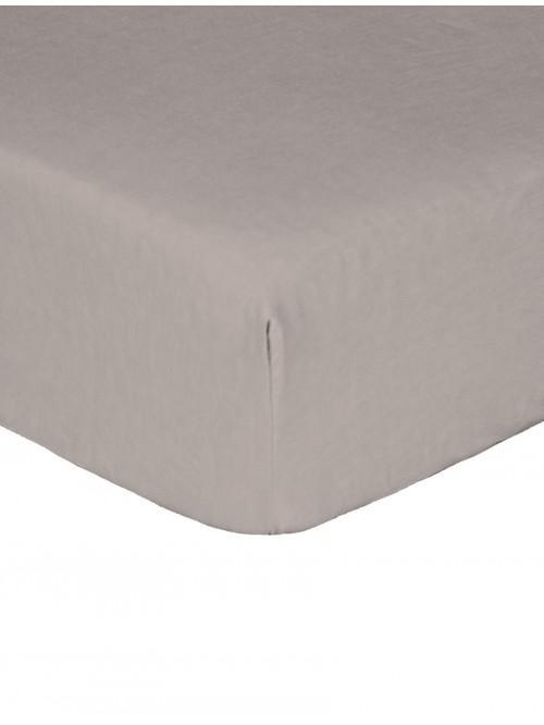 Luxury Percale 200 Thread Count Fitted Sheet Grey