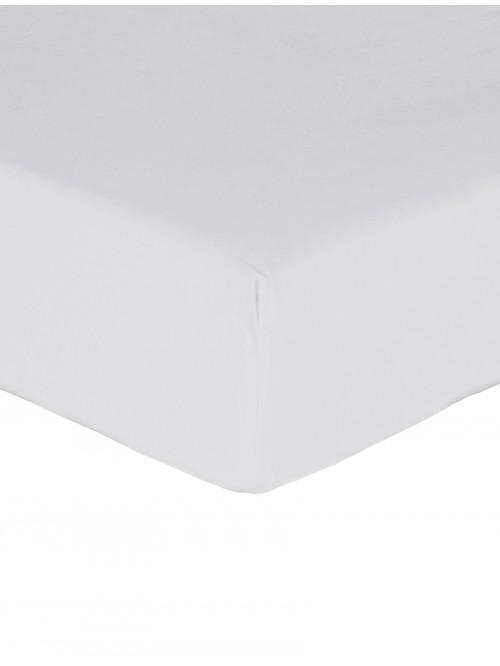 Luxury Percale 200 Thread Count Fitted Sheet White