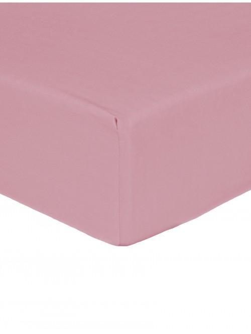 Luxury Percale Fitted Sheet Coral