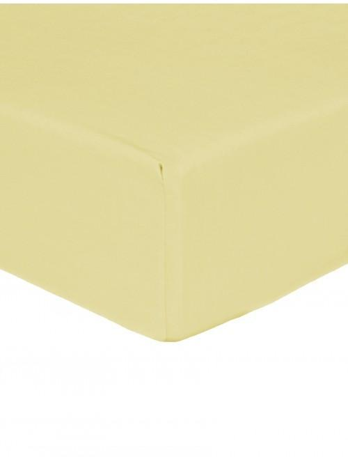 Luxury Percale Fitted Sheet Lemon